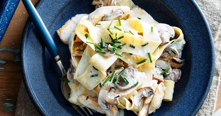 It looks and sounds rich but this pasta is actually low-fat, so forget the guilt and dig in with gusto.