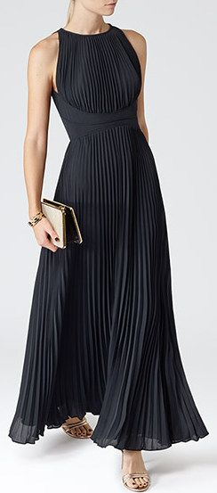 Reiss Winnie Pleated Maxi Dress