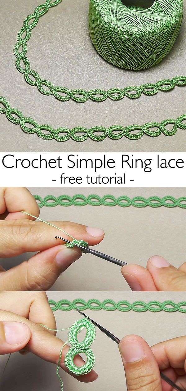 Crochet Simple Ring Chain Lace
