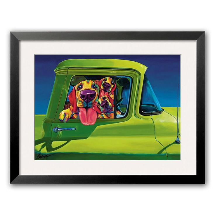 Art.com I Wanna Go Framed Art Print by Ron Burns, Green