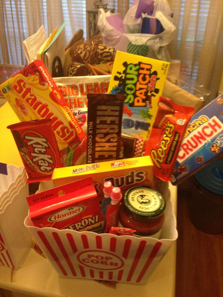 46 best pastors birthday images on pinterest pastor anniversary dinner and a movie basket i made for our pastor and his family candy negle