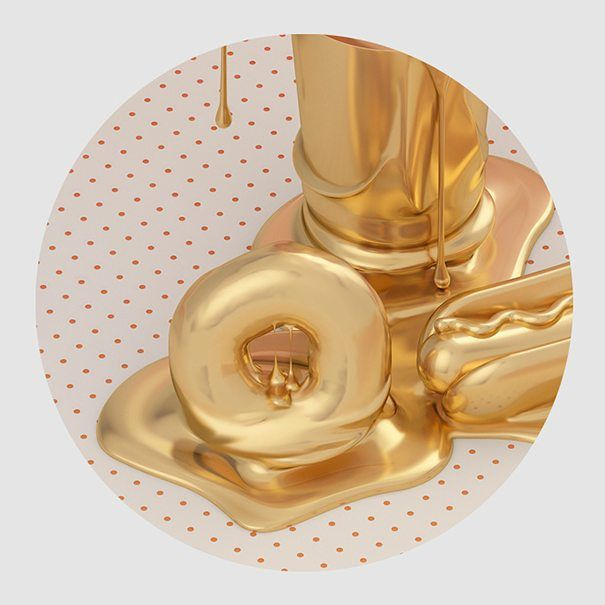 Golden Inspirations for #fubiz (detail) More at www.tavo.es and @behance