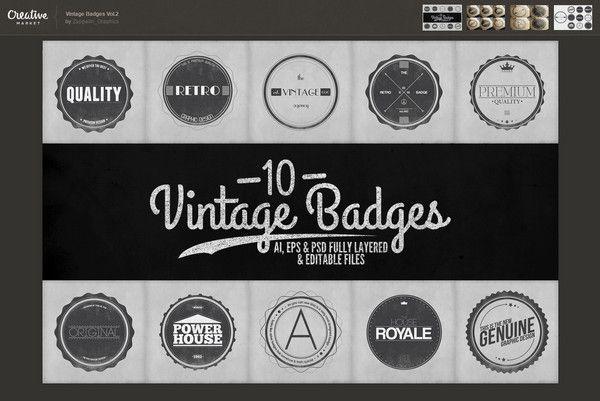 Vintage Badges Vol.2 27593 – Винтажные Логотипы