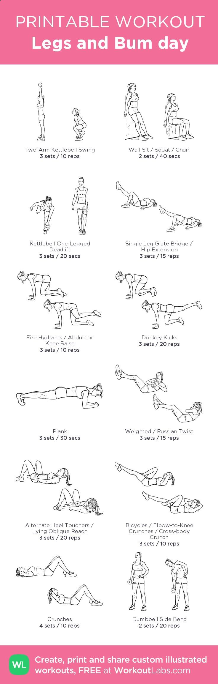 The Hidden Survival Muscle - Legs and Bum day:my visual workout created at WorkoutLabs.com • Click through to customize and download as a FREE PDF! #customworkout The Hidden Survival Muscle In Your Body Missed By Modern Physicians That Keep Millions Of Men And Women Defeated By Pain, Frustrated With Belly Fat, And Struggling To Feel Energized Every Day