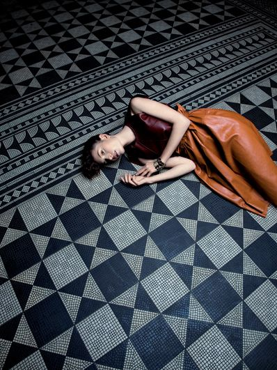 Love the patterned floor
