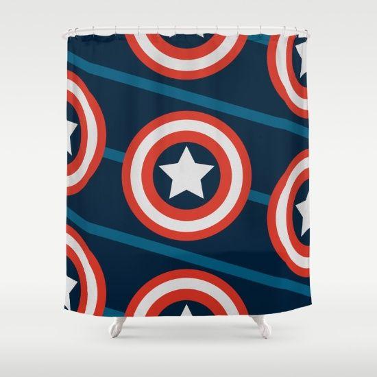Shield, yield. Shower Curtain by Mttix - $68.00
