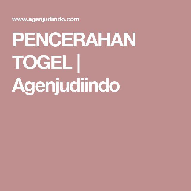 PENCERAHAN TOGEL   Agenjudiindo
