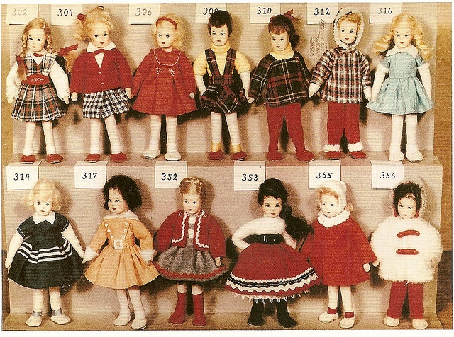 Erna Meyer dolls, lots of clothing ideas for my small dolls.
