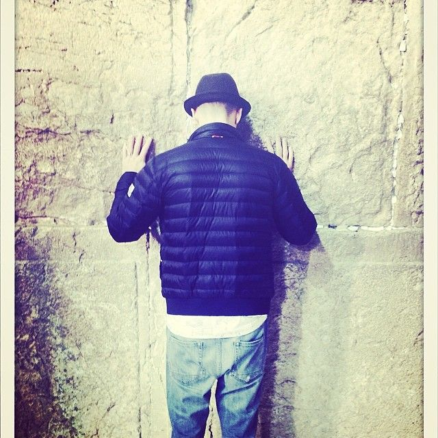 """""""The Holy Land... What an experience. I will never forget this day."""" - Justin Timberlake at the Western Wall in Jerusalem, Israel"""