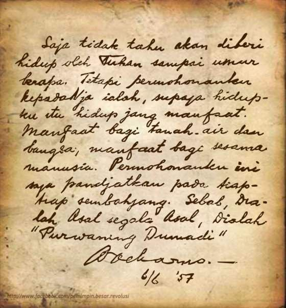 Soekarno's birthday wish