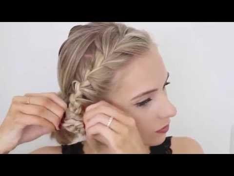10 Быстрых причесок на каждый день для коротких волос - YouTube