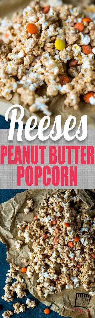 All the flavor of your favorite peanut butter cup wrapped around crunchy popcorn! This Peanut Butter Popcorn is for you, Reese's Lovers!