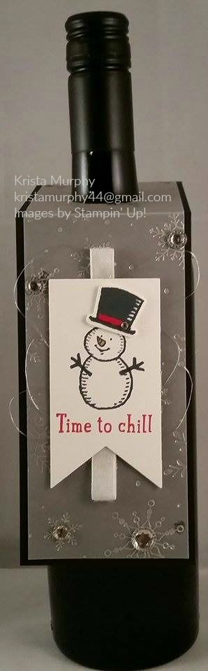 Snow Place beverage tag, Stampin' Up!