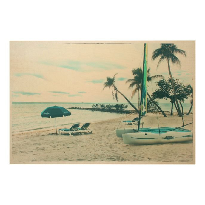 Racing Dinghy and Sun Chairs at Smathers Beach Wood Wall Art  Racing Dinghy and Sun Chairs at Smathers Beach Wood Wall Art  $395.00  by Key_West_Beaches