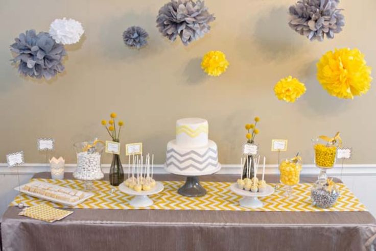 Chevron Themed Baby Shower | The Little Umbrella