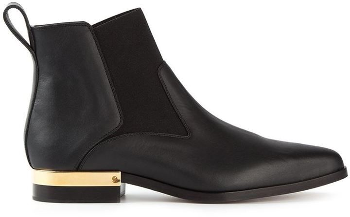 $387, Black Leather Chelsea Boots: Chloé Drew Chelsea Boots. Sold by farfetch.com. Click for more info: https://lookastic.com/women/shop_items/134594/redirect