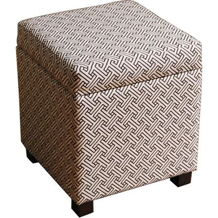buy cube ottoman brown and cream at walmartcom - Storage Cube Ottoman