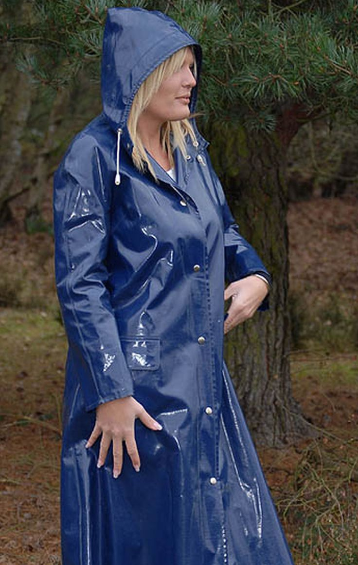 Blue PVC Hooded Raincoat   raincoats - Hooded raincoat ...