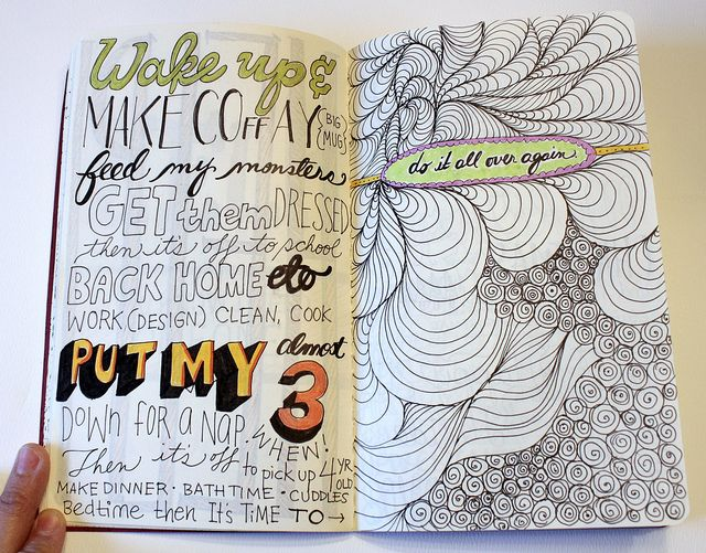 Would love to photograph Cheryl's other modes of inspiration, or curating inspiration - like a sketchbook. Peeking inside (though I'd approach it differently than this - consider this a to-do reminder)
