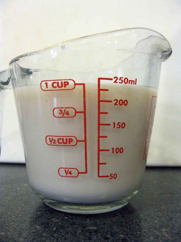 You can create vegan buttermilk by adding vinegar to any non-dairy milk.