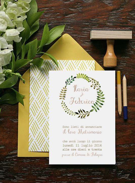 partecipazioni ispirate alla primavera, con coroncine di fiori! more on http://www.loghicomuni.com/wedding-2/