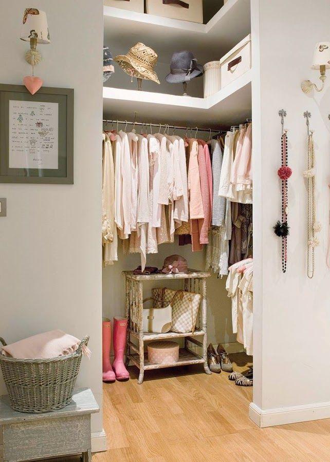 Las 25 mejores ideas sobre peque os armarios en pinterest - Armarios para espacios pequenos ...
