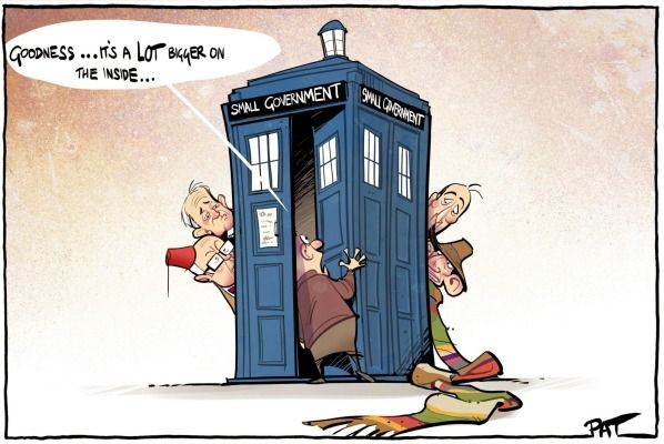 ABBOTT SMALL GOVERNMENT Cartoon by PAT CAMPBELL.