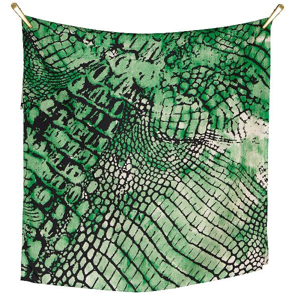 REPTILE silk scarf | Mushroom/Green/Black Beautiful silk scarf, size 70x190cm, in 100% Silk Twill with rolled hand stitched edges #aw16 snake #print #art
