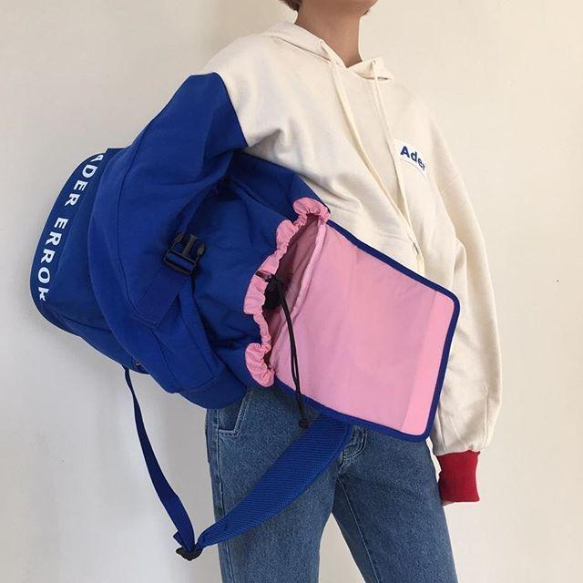 Belt backpack blue ADER Image #backpack #ader #hoodie #adererror #ader#image