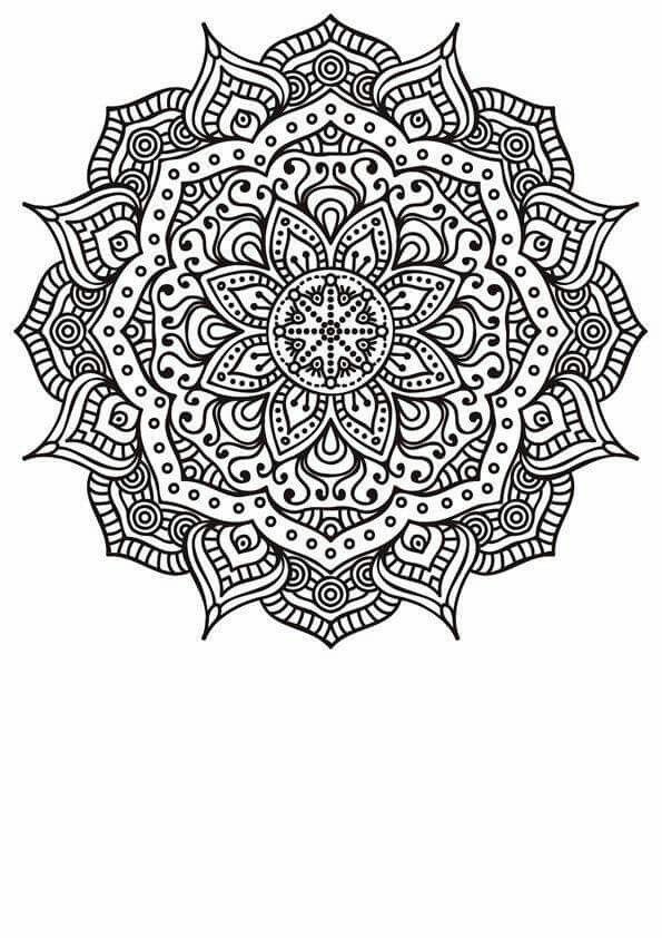 Mandala p/ colorir