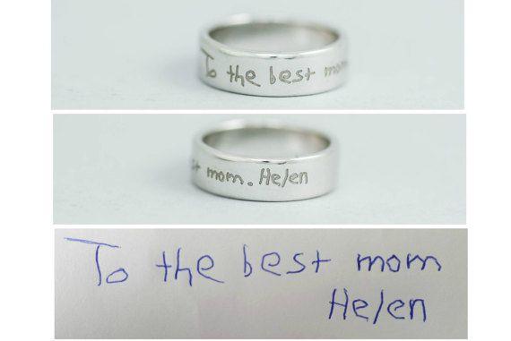 Custom Name Ring Kid's Handwriting Ring Personalized