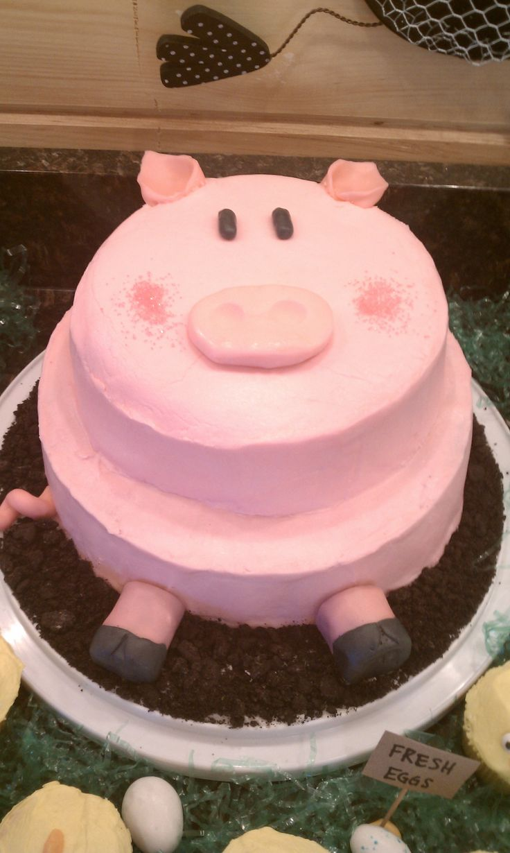 Pig cake for Boone's bday