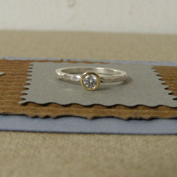 anillo en plata de ley compromiso alternativo aguamarina