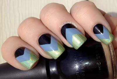 Nail Polish Wars: Tri-Colored Chevron