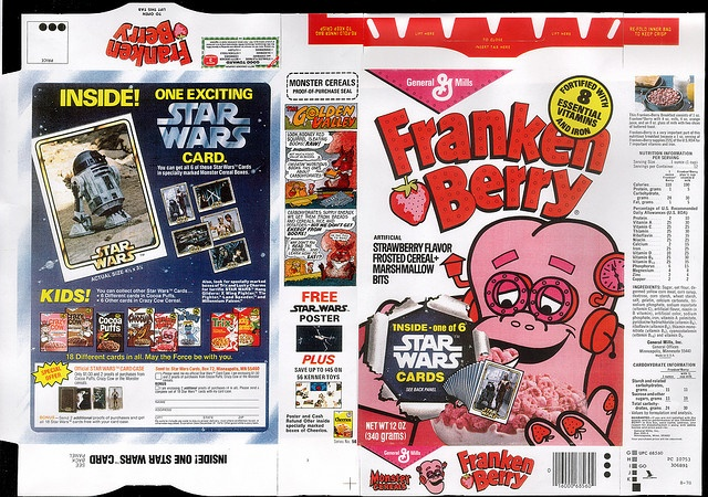 General Mills - Frankenberry cereal box - Star Wars Cards - 1978 by JasonLiebig, via Flickr