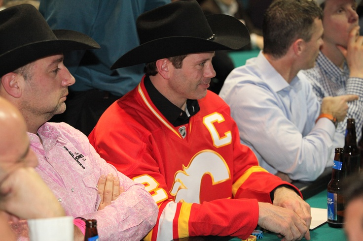 Craig Conroy keeps an eye on his table at the 2013 Texas Hold 'Em Tournament!