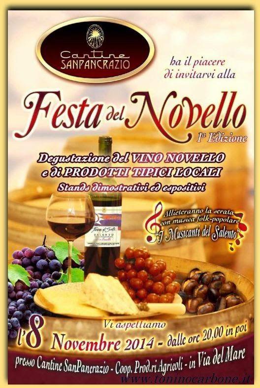 Festa del Novello 1^ Edizione - http://www.toninocarbone.it/2014/11/festa-del-novello-1-edizione.html