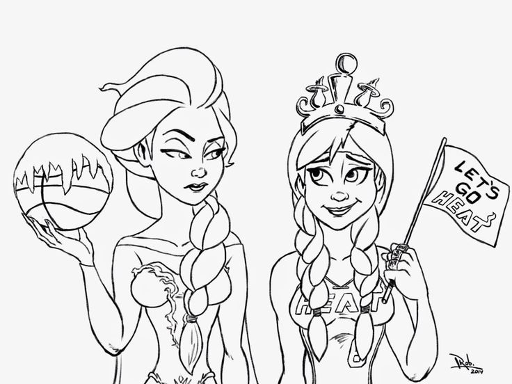 Coloring Pages Anna And Elsa Printable Free