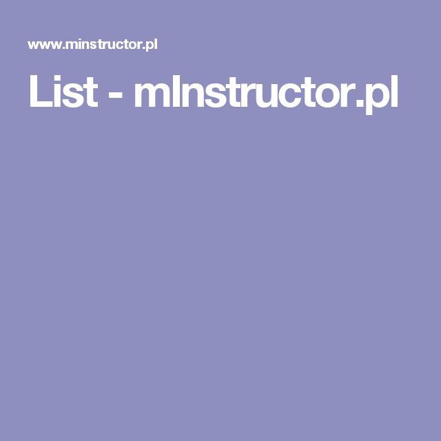 List - mInstructor.pl