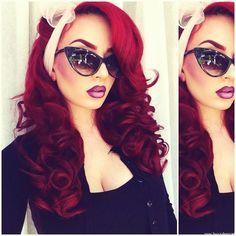 Red Hair✶ #Hair #Colorful_Hair #Dyed_Hair