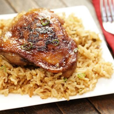 Honey Soy Chicken And Rice Bake