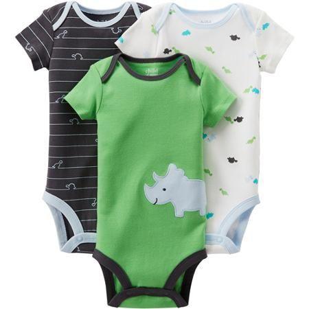 Child of Mine by Carter's Newborn Baby Boy Bodysuits, 3-Pack - Walmart.com