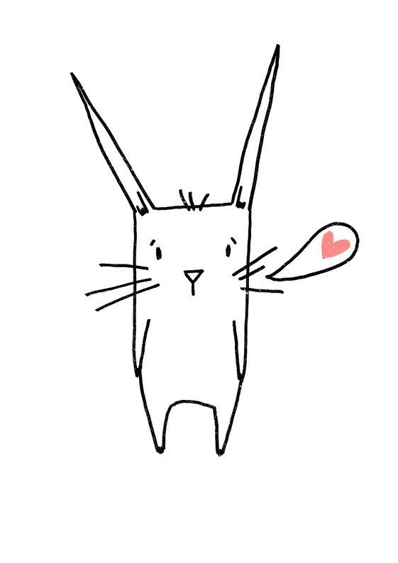 Die besten 25 osterhase zeichnen ideen auf pinterest hase zeichnen osterkarten basteln und - Osterhase zeichnen ...