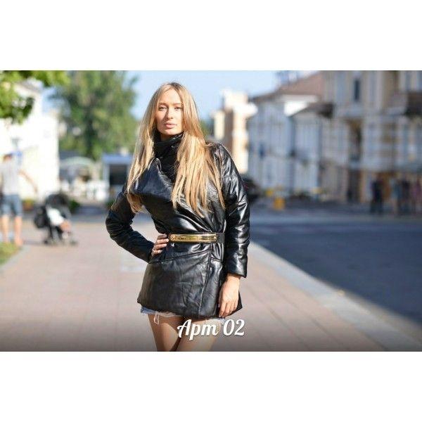 Черная куртка на синтепоне Верона