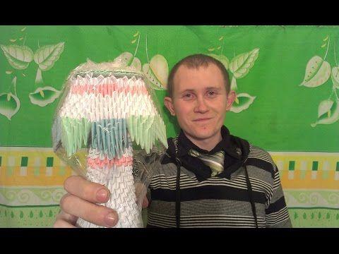 Модульное оригами - Лампа (В гостях у Димы Выпуск 16) - YouTube