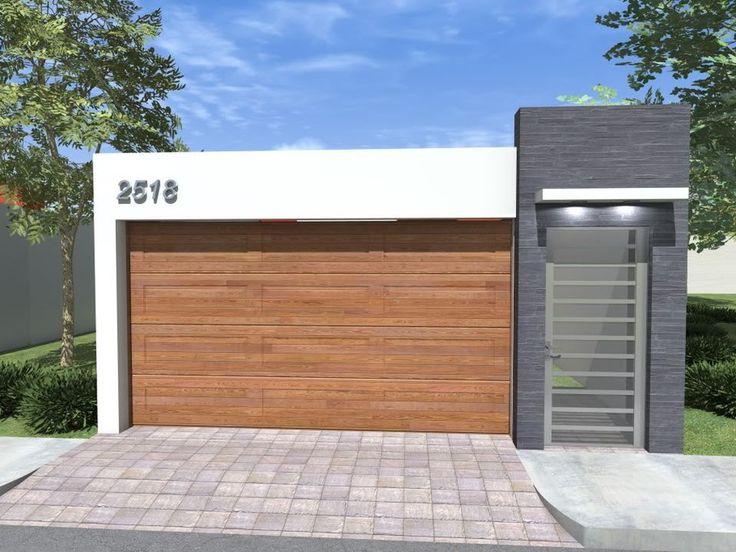 Las 25 mejores ideas sobre puertas para cochera en for Disenos de puertas para casas modernas