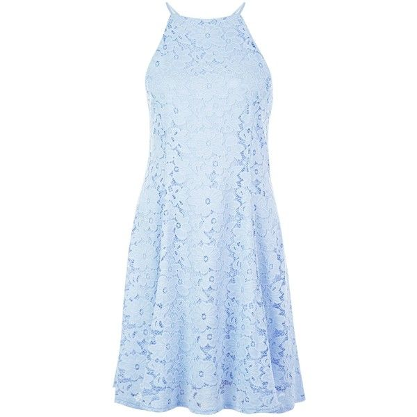 New Look Light Blue Floral Flounce Lace Skater Dress ($33) ❤ liked on Polyvore featuring dresses, wedgewood blue, light blue skater dress, floral dress, blue floral dress, floral summer dresses and floral print dress