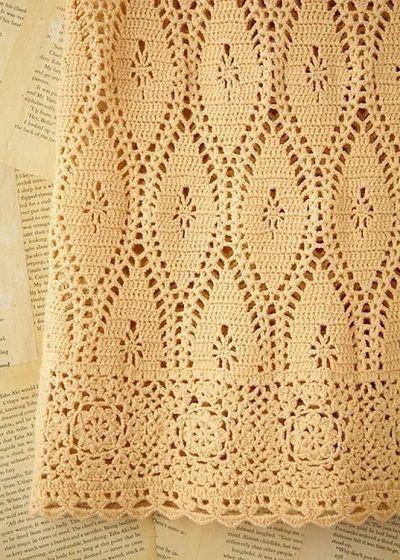 Узоры для юбки крючком