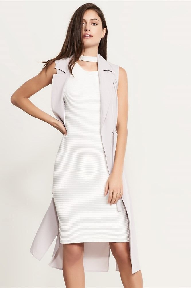 Maxi Vest With Slits