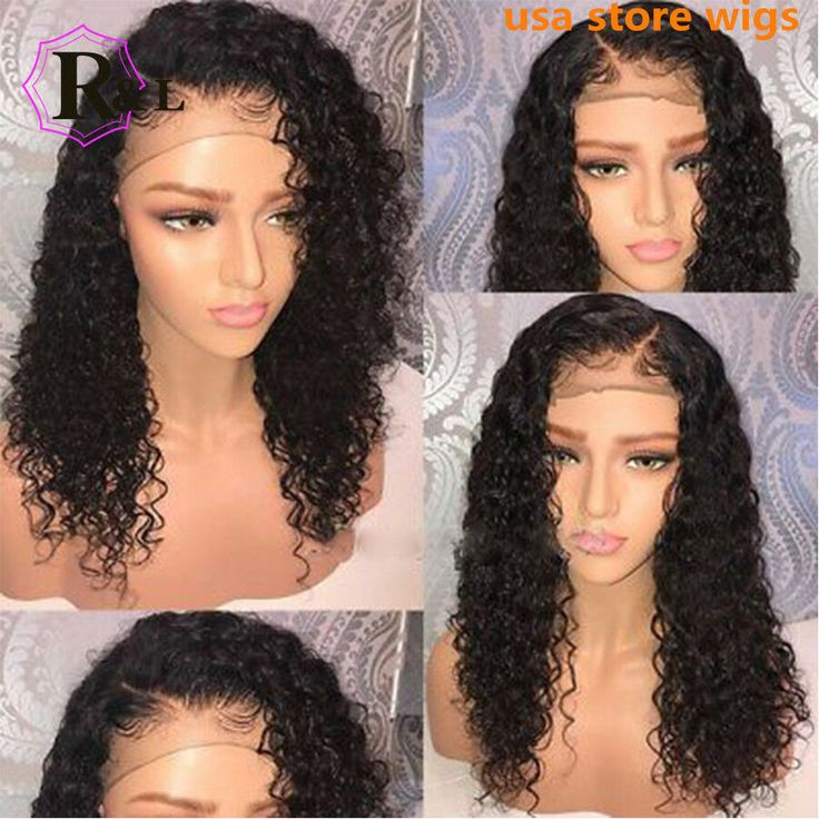 Deep Curly Wig Brazilian Lace Front Human Hair Wigs Baby